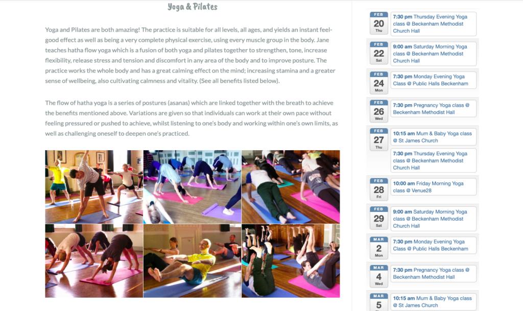 Radiant Yoga - Yoga & Pilates page