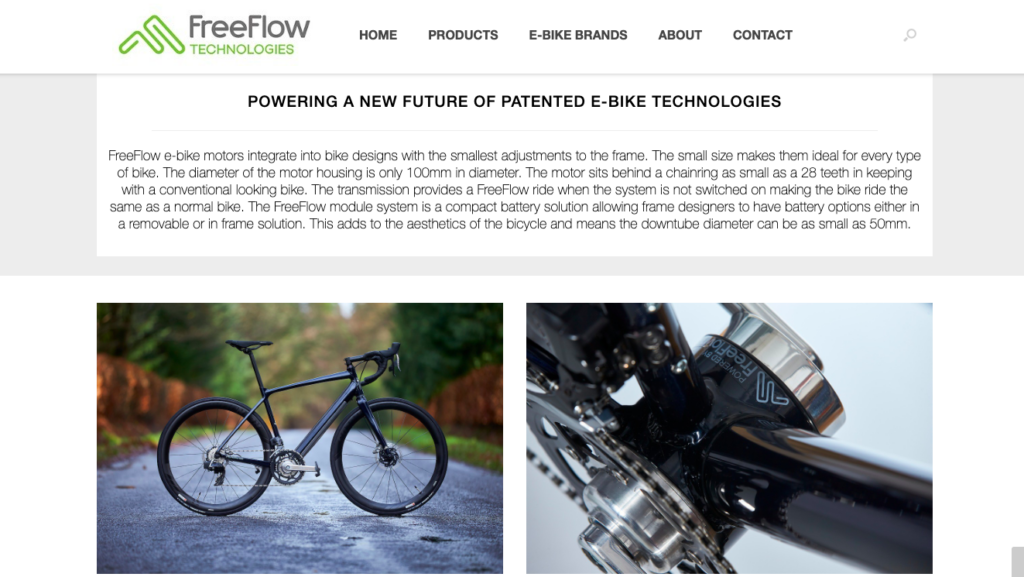 FreeFlow Technologies bottom of homepage