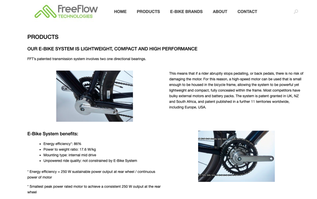 FreeFlow Technologies products page